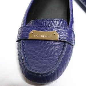 Burberry Shoes - Burberry Rowles Blue Leather Loafer / Car Shoes